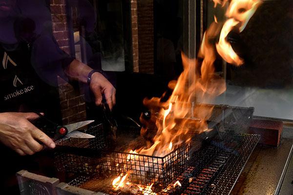 鶏炭火焼レアの調理方法