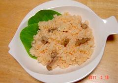 鶏せせり香草焼のキャロットライス
