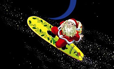 クリスマスチキンとサーフサンタへかけた想い