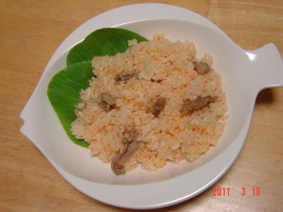 鶏せせり香草焼きのキャロットライス