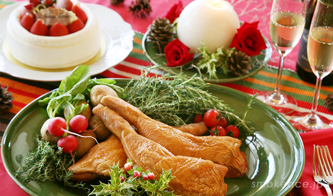 クリスマスチキンを魚焼きグリルで