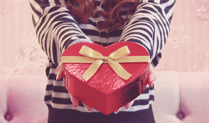 バレンタインにつまみを贈る