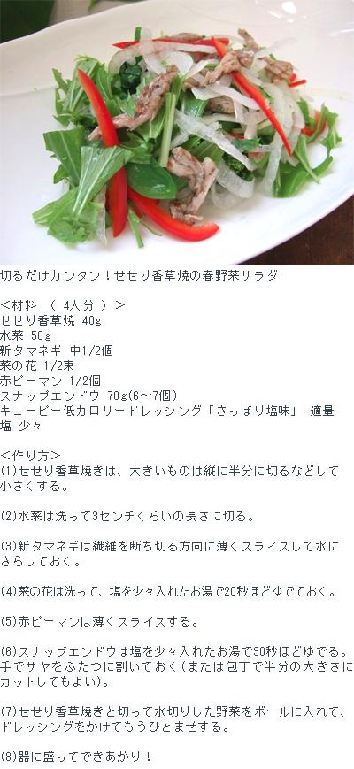 カンタン!春野菜サラダ