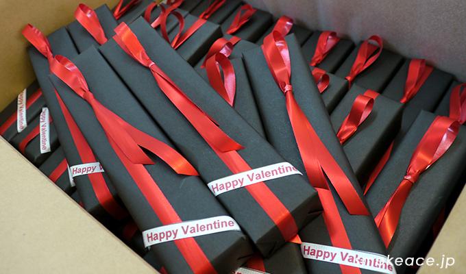 会社・職場の同僚へバレンタインの詰め合わせギフトを贈る