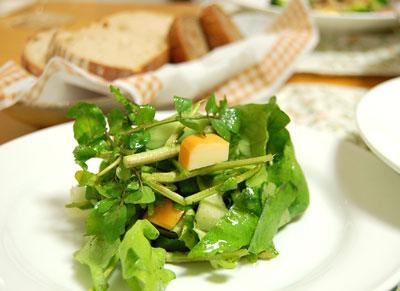 スモークチーズとクレソンのサラダ