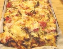 ベーコンと春野菜のオーブン焼き