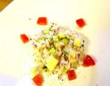 スモークチーズと雑穀のヘルシーサラダ